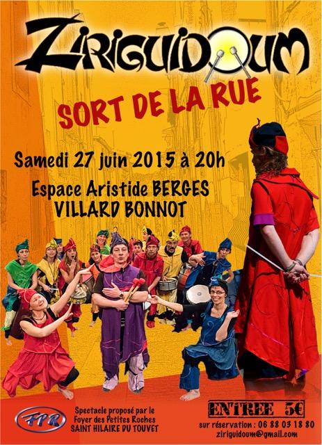 Affiche spectacle ZIRIGUIDOUM - BERGES 2015