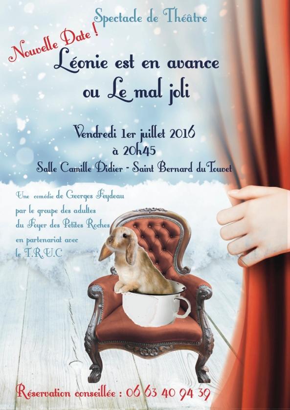 Affiche theatre Leonie est en avance 01072016