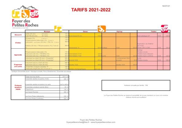 Tarifs FPR - 2021-2022 - V2